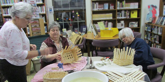 Milford-Public-Library-Basket-Weaving
