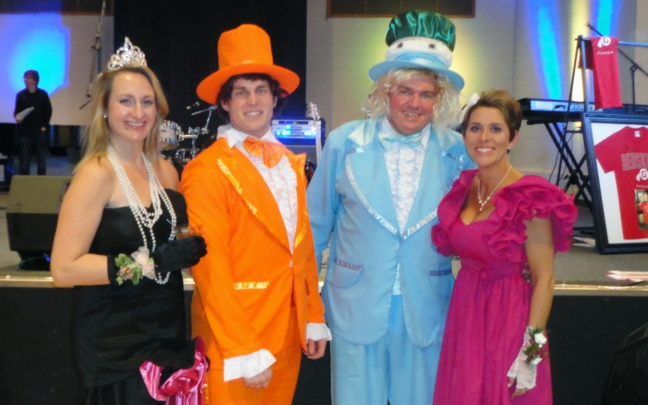 Prom royalty at the Elkhart County Fair Adult Prom are, from left: Stephanie Simonowski, Randy Lehman, Eric Erlenwein and Julie Wollschlager. (Photo provided)