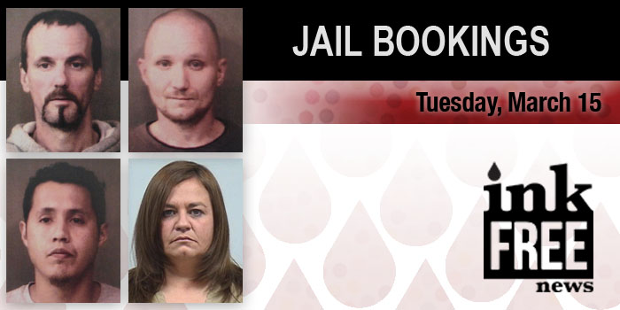jail bookings march 15