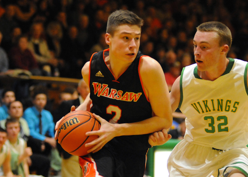 Kyle Mangas of Warsaw was named to the iBCA Indiana Junior All-Star Team. (File photo by Mike Deak)