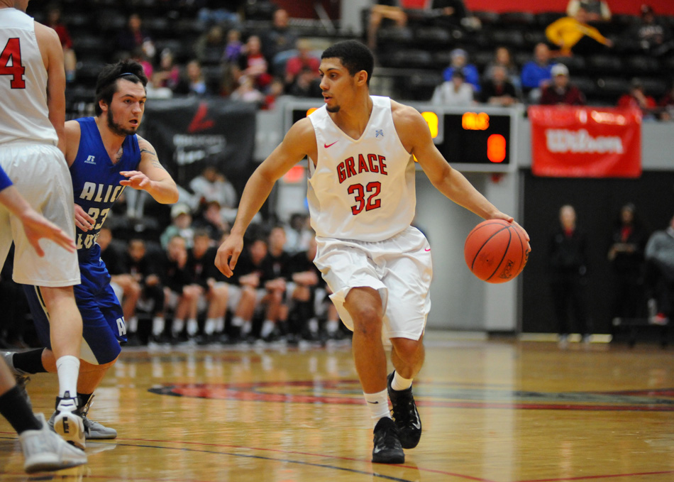 Grace College senior Brandon Vanderhegghen was named an All-American for NAIA and NCCAA men's basketball. (File photo by Mike Deak)