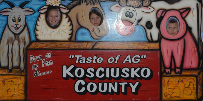 """Kids getting into the """"Taste of Ag"""" from left; Anna, Brooke and Ben Zartmen"""