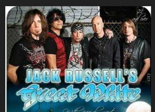 Jack Russell's Great White will start off the Classic Rock Concert