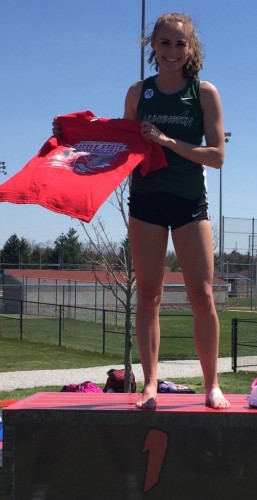 Huntington University freshman Mariah Harter, a WCHS graduate, was part of two record-setting track performances this past weekend.