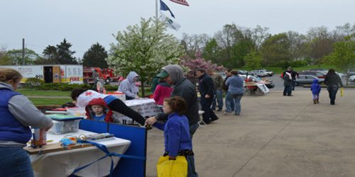Cool temps and rain kept the crowds to a minimum at the fourth Annual Kids Safety Day in Syracuse