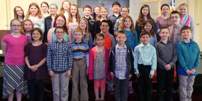 The Warsaw Christian School students that will compete in the speech contest, held in Watervliet, Michigan.