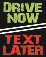 Poster for the Drive Now TXT L8R social media contest.