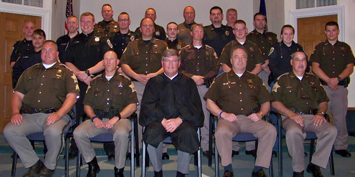 Shown are the instructors and participants in the 2016 Kosciusko County Reserve Academy. Academy class members were from Marshall County, Milford, North Manchester, Grace College, Nappanee, Bourbon and Kosciusko County. (Photo provided)
