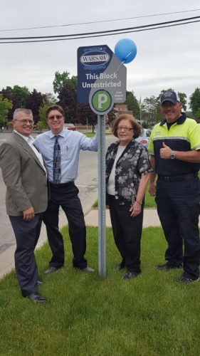 Rob Parker, President & CEO Kosciusko Chamber of Commerce, Executive Director, WCDC; Jeremy Skinner, City of Warsaw; Cindy Dobbins, Buffalo Street Emporium & Next Chapter Book Store, City of Warsaw; Dana Hewitt, Parking Control, City of Warsaw.
