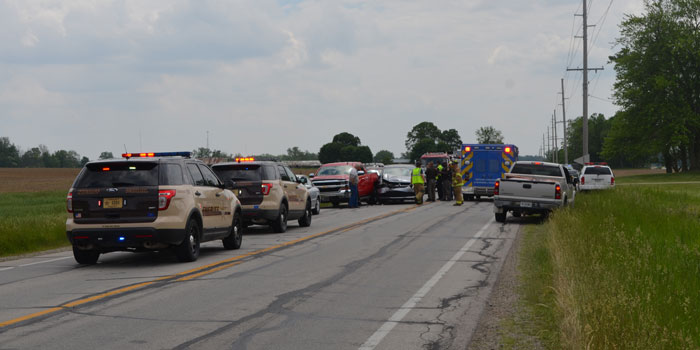 Emergency crews respond to an accident on SR 15, south of Claypool, involving up to five vehicles. (Photos by Amanda McFarland)