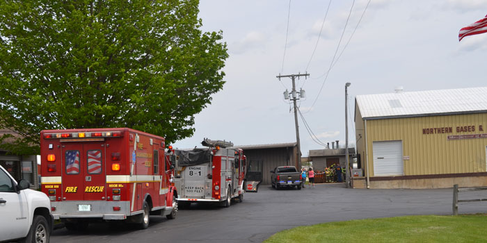 Firefighters respond to a small explosion north of Piercetion. (Photos by Amanda McFarland)