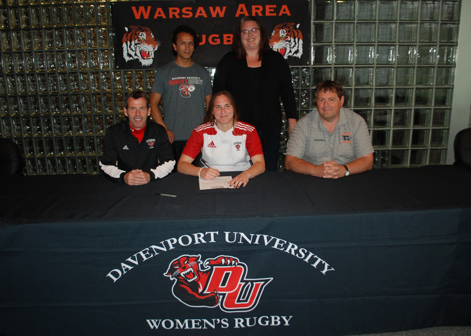 WCHS senior Hannah Garcia signed a letter of intent to continue her rugby career at Davenport College. (Photo provided)