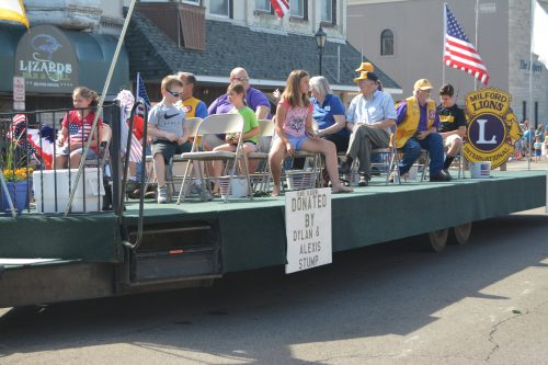 The Milford Lions Club float as part of the 2016 Milford Memorial Day Parade.