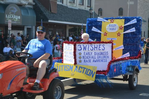 The Milford Kiwanis' float entry in the 2016 Milford Memorial Day Parade.