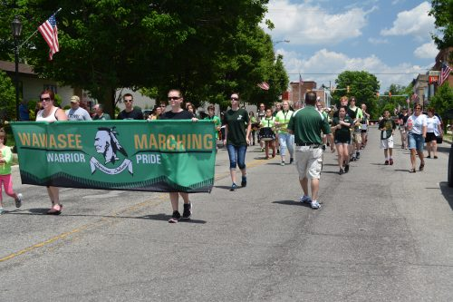 The Wawasee High School Marching Band provided some of the entertainment during the 2016 Syracuse Memorial Day parade.