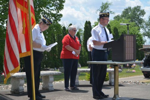 American Legion Post 223 Chaplain Chris Logenbaugh memorializes the number of local residents who perished in America's wars and conflicts.