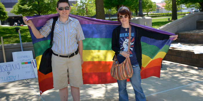 Andy Semler and Aimee McDairmant of the Warsaw LGBT & Supporters Community (Photo by Marc Eshelman