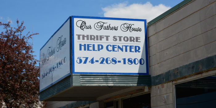 The front of Our Father's House thrift store.