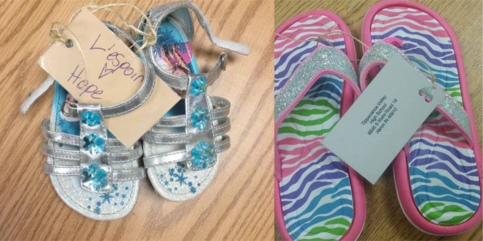 More than 600 pairs of shoes have been collected for Shoes for Haiti.