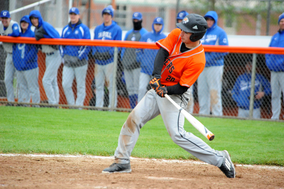 Marselo Rodriguez takes a cut for Warsaw Saturday morning against Fort Wayne Carroll. (Photo by Mike Deak)