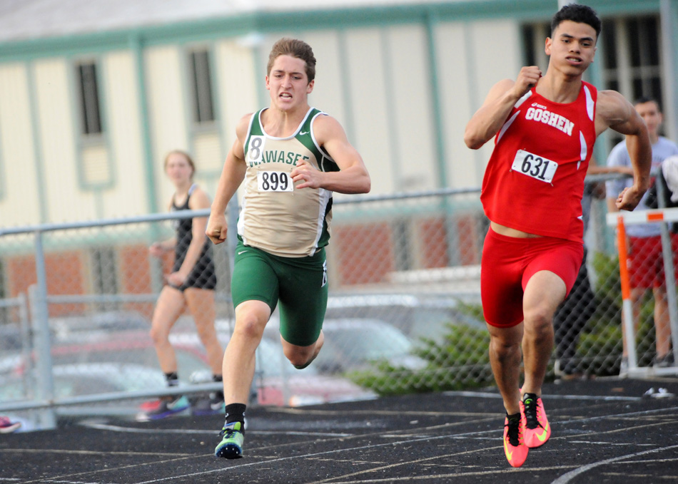 Wawasee's Michael Katzer competes Wednesday at the Northern Lakes Conference Boys Track Championships. (Photo by Mike Deak)