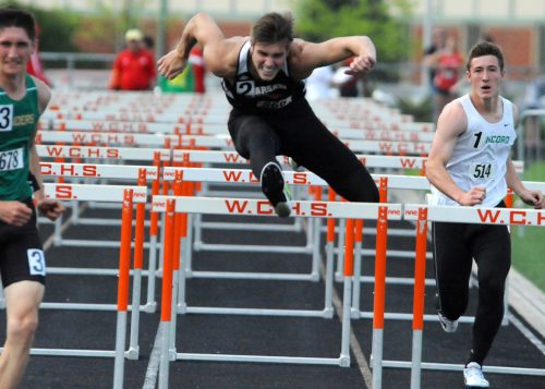 Trevor York of Warsaw was a surprise qualifier for the 110 hurdles finals.