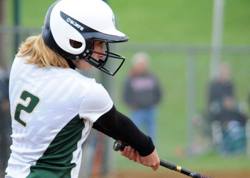 Madie Wilson locks in on a base hit for Wawasee.