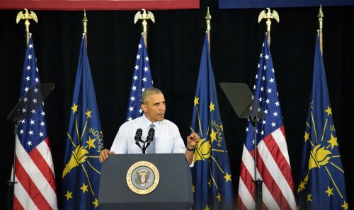 President Obama delivered a speech on economy during his visit to Elkhart on June 1. (Photos by Maggie Kenworthy)
