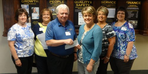 Pictured are Patty Williams, Becky White; Joe Jarboe, KCH HR Vice-President; Rebecca Bazzoni, Physical Therapist and Executive Director at Joe's Kids; Michele Bickel, Director of Community Relations at Joe's Kids and Denise Gross, KCH Booster Team. (Photo Provided)