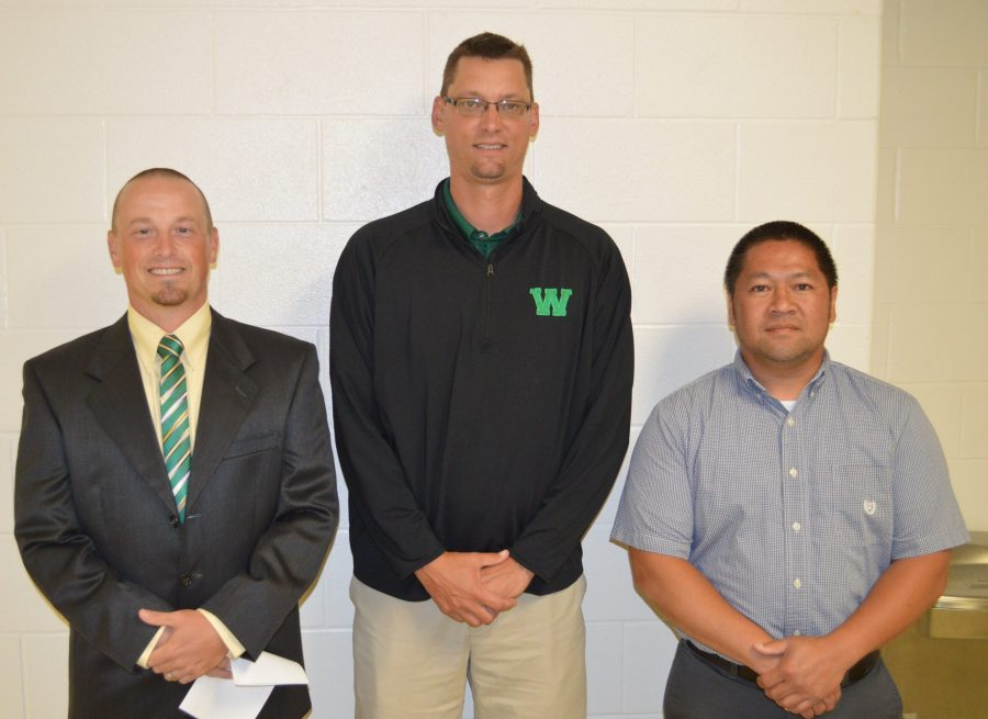 From left are Brent Berkeypile, Jon Everingham and Kim Nguyen. Berkeypile is the new assistant principal at Wawasee Middle School, Everingham is the new Wawasee Area Career and Technical Cooperative director and Nguyen is now the principal at Wawasee High School.