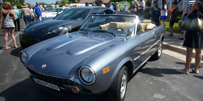 A '82 Fiat Spider 124, owned by Adam Atherton.