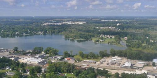 Center Lake is located in urban Warsaw, Indiana. The over 100 lakes in Kosciusko County are economic drivers for the county. The total lake economic impact of lakes in Kosciusko County is estimated to be conservatively $313 million annually. (Photo Provided)
