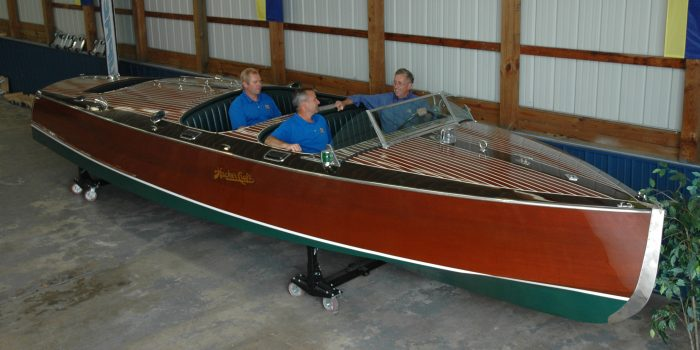 Wawasee Boat Company recently became the nation's first authorized dealer of Hacker-Craft wooden boats.