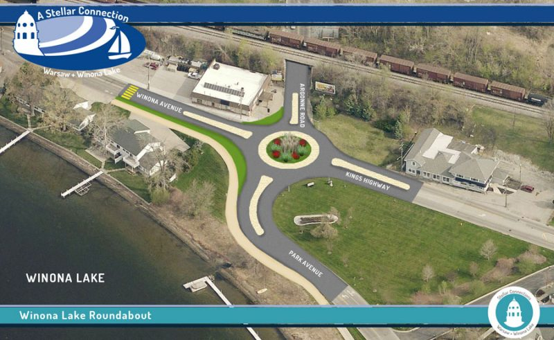 Winona Lake roundabout that will improve safety and traffic flow