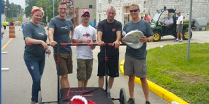 The 2015 defending champions invite racers to compete in the Silver Lake Days bed race. (Photo provided)