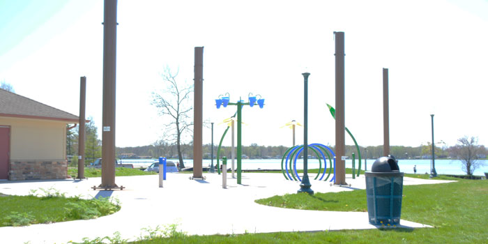 The Winona Lake Splash Pad is open for the summer. (Photo by Marc Eshelman)