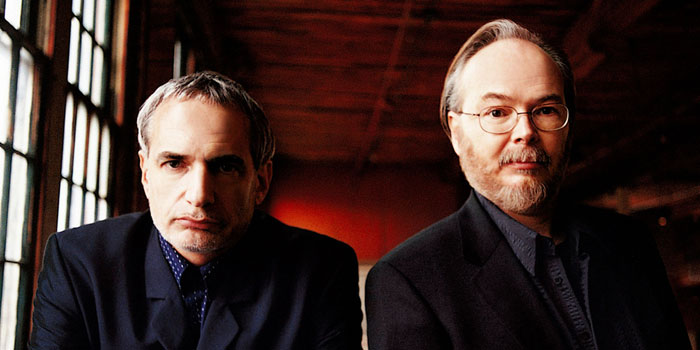 The two members of the band Steely Dan. From the left, Donald Fagen and Walter Becker.