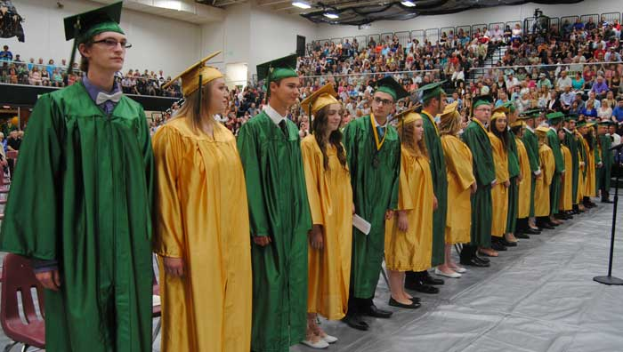The Wawasee High School Class of 2016 graduated Sunday, May 5. Over 210 students graduated.
