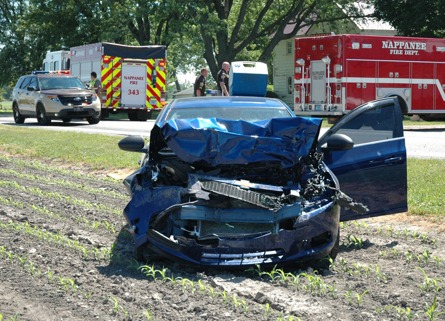 The driver of the Chevrolet Cruze was uninjured.