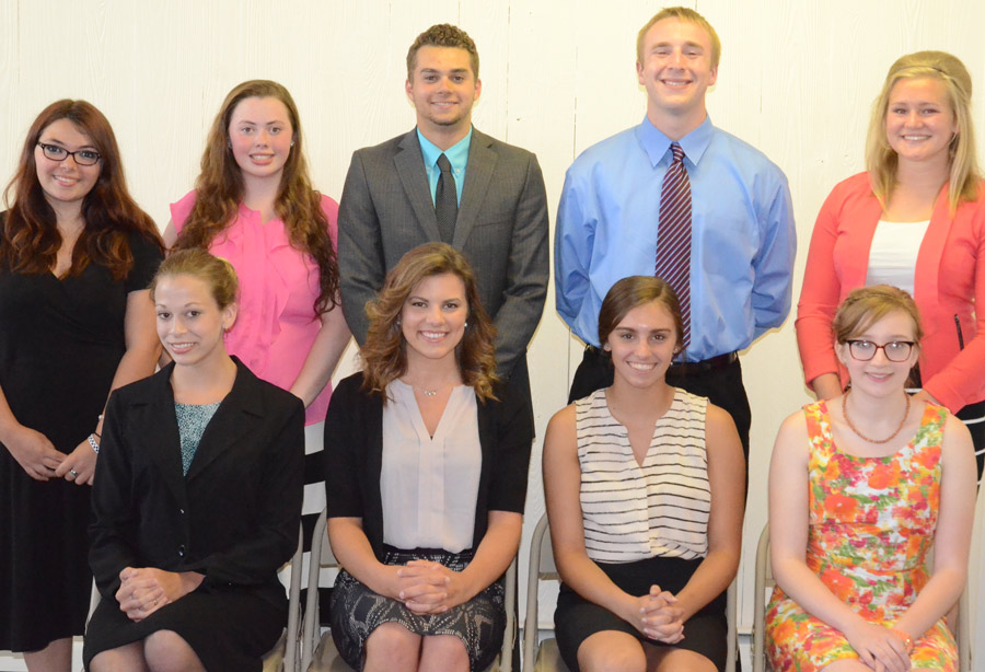 Shown are the candidates for the 2016 Kosciusko County 4-H Royalty. In front, from left are, Lacy Helfers, Samantha Deneve, Kara Kline, Analiese Helms. In back are, Alexus Greene, Destini Carpenter, Conner Sausaman, Evan Schmidt and Ashley Beer.
