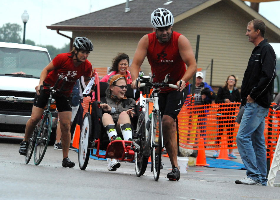 Mason Metzger prepares to head out to the streets of Winona Lake with My Team Triumph. (File photo by Mike Deak)