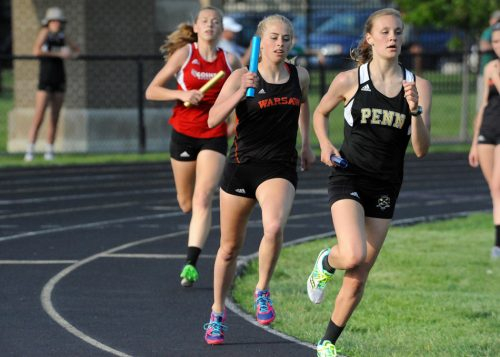 Warsaw senior Brooke Rhodes has been a valuable piece of the 4x800 relay team.