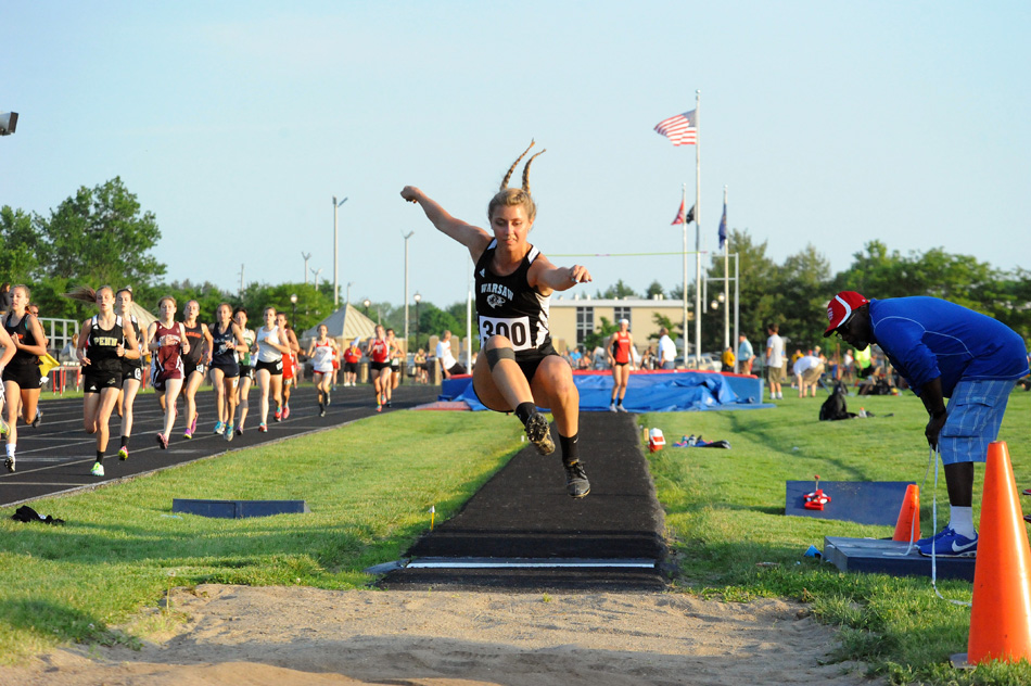 Warsaw senior Sam Alexander will compete this weekend in long jump at the IHSAA Girls Track State Finals. (Photos by Mike Deak)