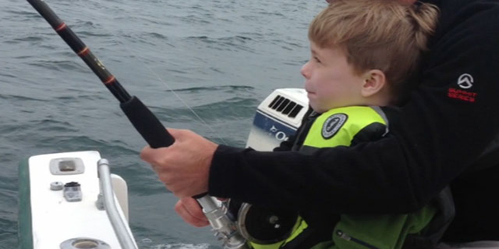 6-year-old boy catches great white shark
