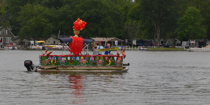 A colorful boat celebrates the upcoming Summer Olympics in Brazil. (Photos by Amanda McFarland)