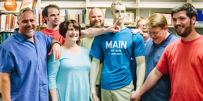 Pictured, left to right: Ian Crighton, Taylor White, Beth Smith, Nathan Hasse, Todd Lucas, Stephen Leininger and Dustin Wolfe (Photo provided)