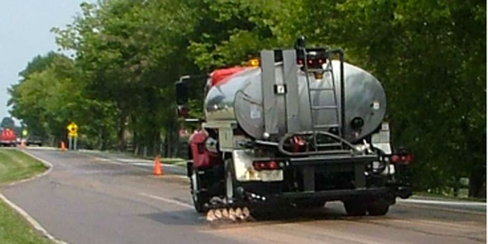 Reclamite Pavement Preservation work begins this Tuesday. (Photo provided)