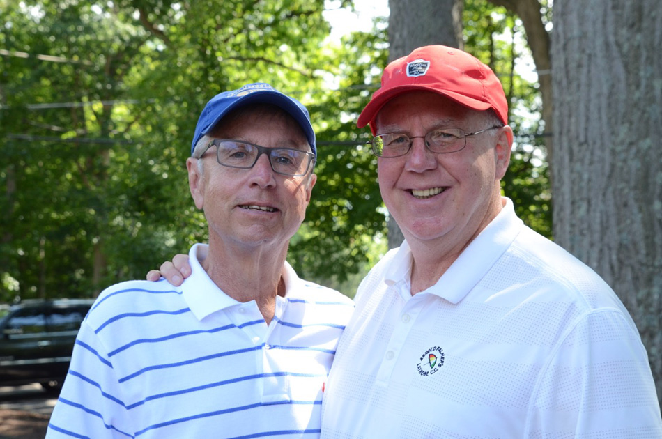 Foundation President (John Murphy who is in the red hat) and Tim Borne (who is a long time supporter of Ivy Tech and particularly this golf outing). This pictures importance is the fact that it was announced that evening that we will be naming this event moving forward after Tim Borne (So it will be the Tim Borne Ivy Tech Scholarship Open)