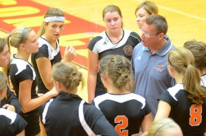 Mike Howard, who guided the Warsaw volleyball team the past eight years, was named Whitko's new coach Friday night. (File Photo by Mike Deak)