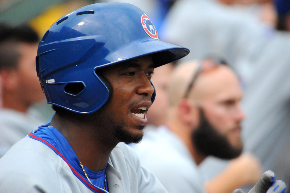 Eloy Jimenez of the South Bend Cubs starred in Sunday's MLB Futures Game. (File photo by Mike Deak)